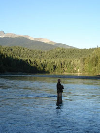 fishing at Canadian Country Cabins